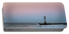 Portable Battery Charger featuring the photograph Inlet Jetty At Dawn by Robert Banach
