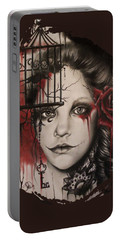 Inner Demons  Portable Battery Charger by Sheena Pike