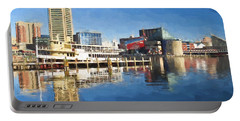 Inner Harbor Reflections  Portable Battery Charger
