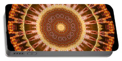 Inner Star Mandala Portable Battery Charger by Wernher Krutein