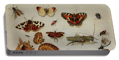 Insects, Shells And Butterflies Portable Battery Charger