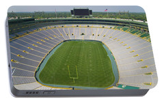 Portable Battery Charger featuring the photograph Inside Lambeau Field by Joel Witmeyer
