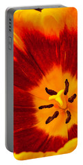 Inside Red And Yellow Tulip Portable Battery Charger