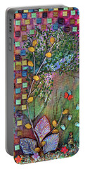 Inside The Garden Wall Portable Battery Charger by Donna Blackhall