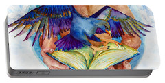 Inspiration Spreads Its Wings Portable Battery Charger by Melinda Dare Benfield