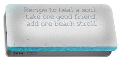 Inspirational Beach Quote Seashore Coastal Women Girlfriends Portable Battery Charger