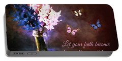 Inspirational Flower Art Portable Battery Charger by Tina LeCour