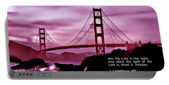 Inspirational - Nightfall At The Golden Gate Portable Battery Charger