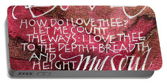 Inspirational Saying Love Portable Battery Charger