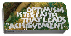Inspirational Saying Optimism Portable Battery Charger