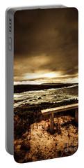Intense Coastline Drama Portable Battery Charger