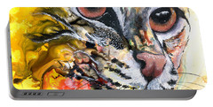 Portable Battery Charger featuring the painting Intensity by Sherry Shipley