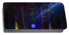 Portable Battery Charger featuring the photograph Interior Looking Rearwards, Cathedral Of St. John The Divine by Chris Lord