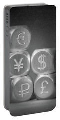 International Currency Symbols Portable Battery Charger