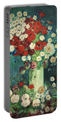 Interpretation Of Van Gogh Still Life With Meadow Flowers And Roses Portable Battery Charger