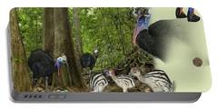Zoo Nature Interpretation Panel Cassowaries Blue Quandong Portable Battery Charger