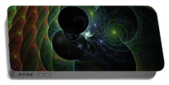 Portable Battery Charger featuring the digital art Into Space And Time by Deborah Benoit
