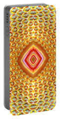 Portable Battery Charger featuring the digital art Into The Centre - Vertical by Wendy Wilton