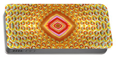 Portable Battery Charger featuring the digital art Into The Centre - Horizontal by Wendy Wilton