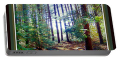 Portable Battery Charger featuring the photograph Into The Clearing by Shirley Moravec