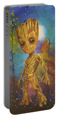 Into The Eyes Of Baby Groot Portable Battery Charger