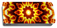 Portable Battery Charger featuring the digital art Into The Fire by Shawna Rowe