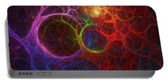 Portable Battery Charger featuring the digital art Into The Light by Deborah Benoit