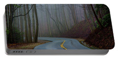 Portable Battery Charger featuring the photograph Into The Mist by Douglas Stucky