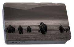 Portable Battery Charger featuring the photograph Into The Sunset - Bw by Chris Bordeleau