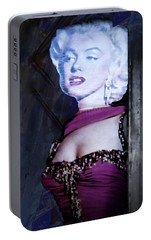 Portable Battery Charger featuring the photograph Introspective Marilyn by Suzanne Stout
