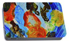 Portable Battery Charger featuring the painting Intuitive Painting  215 by Joan Reese