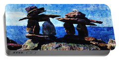 Inukshuk Portable Battery Charger by Zinvolle Art
