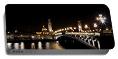 Portable Battery Charger featuring the photograph Invalides At Night 1 by Andrew Fare