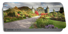 Inveraray Castle Garden In Autumn Portable Battery Charger