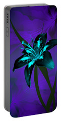 Inverse Lily Portable Battery Charger by Judy Johnson