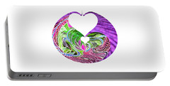 Portable Battery Charger featuring the digital art Invert Hearts by Adria Trail