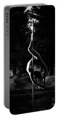 Inverted Pole Dance In Forest Portable Battery Charger