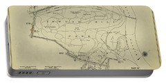 Portable Battery Charger featuring the photograph Inwood Hill Park 1950's Map by Cole Thompson