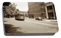 Portable Battery Charger featuring the photograph Inwood Trolley  by Cole Thompson
