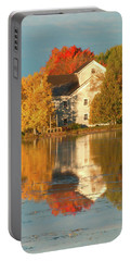 Iola Mill Fall Reflection Portable Battery Charger