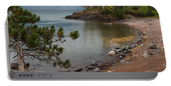 Portable Battery Charger featuring the photograph Iona's Beach by James Peterson