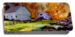 Iowa Farm Portable Battery Charger by Ron Chambers