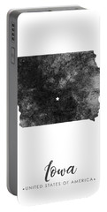 Iowa State Map Art - Grunge Silhouette Portable Battery Charger