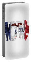Iowa Typographic Map Flag Portable Battery Charger