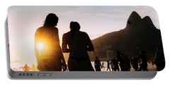 Ipanema, Rio De Janeiro, Brazil At Sunset Portable Battery Charger