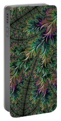 Iridescent Feathers Portable Battery Charger