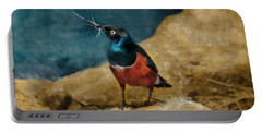 Iridescent Starling Portable Battery Charger