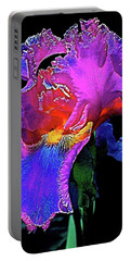 Portable Battery Charger featuring the photograph Iris 3 by Pamela Cooper