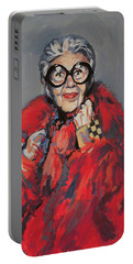 Iris Apfel Style Icon Portable Battery Charger