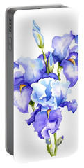 Iris Blooms Portable Battery Charger